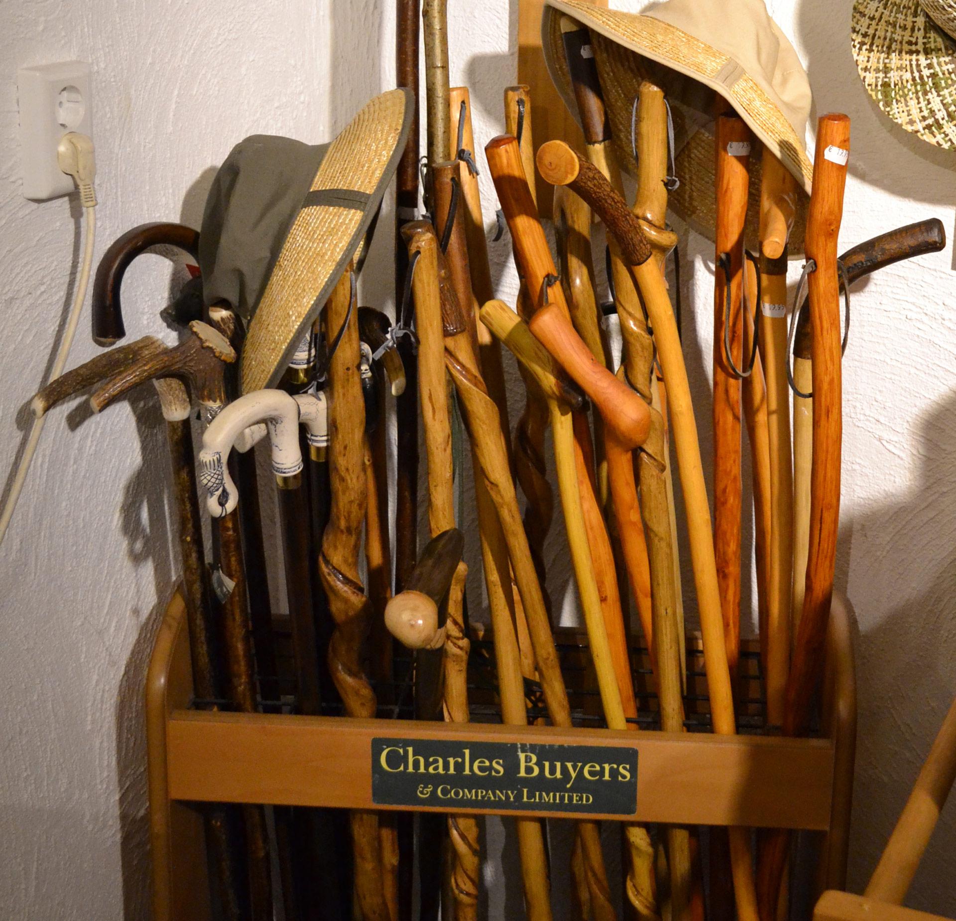 Charles Buyers wandelstokken